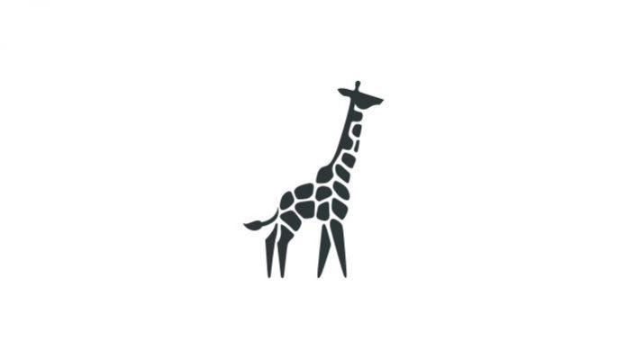 эскиз тату мини-жираф