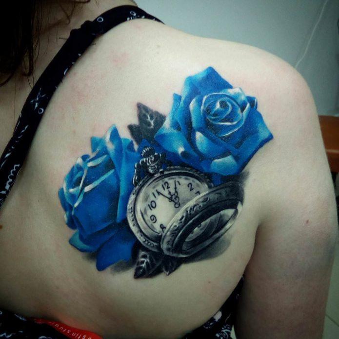Синие роза