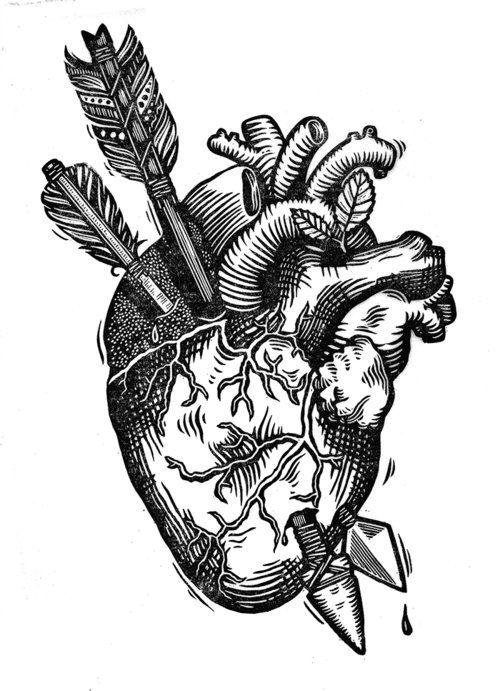 Эскиз сердце