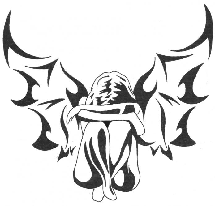 Эскиз падший ангел