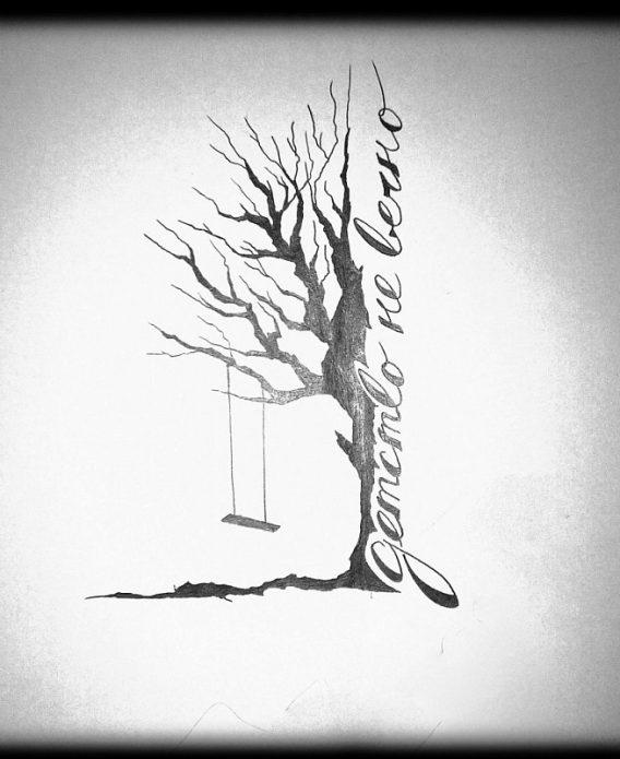 эскиз дерево, татуировки со смыслом
