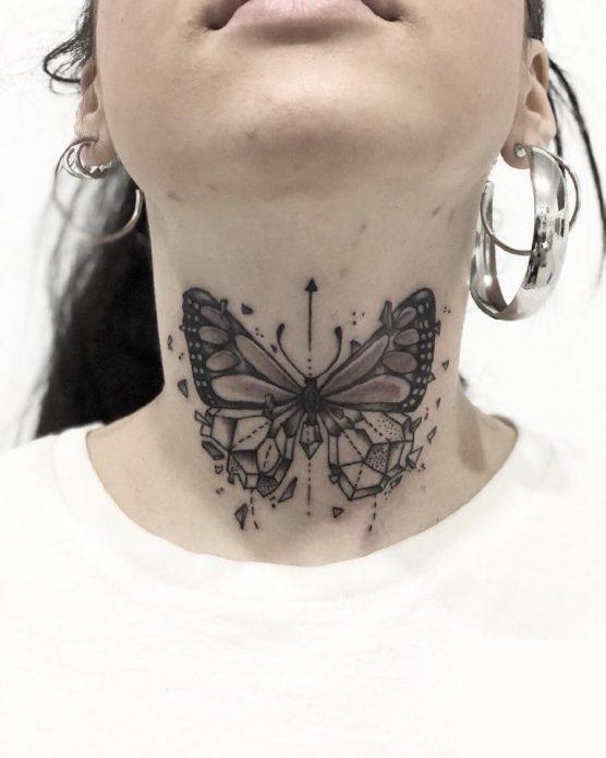 Татуировка на горле