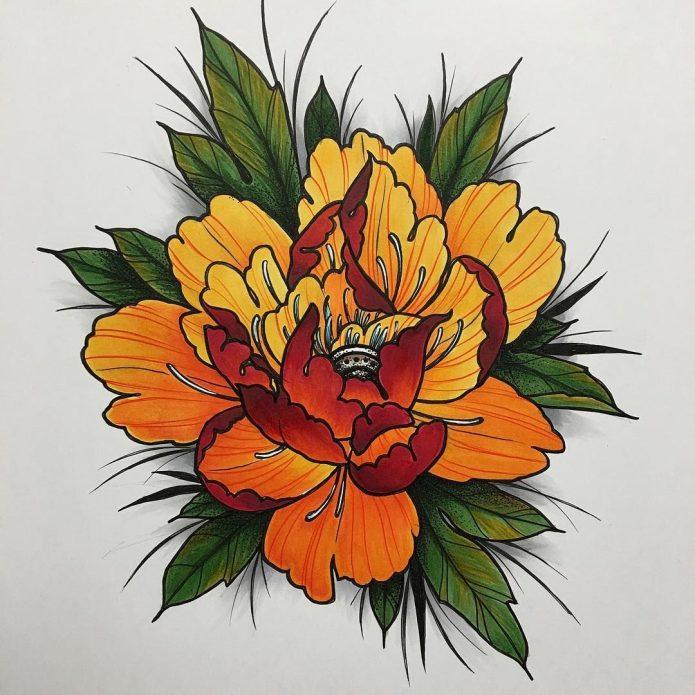 Эскиз цветок
