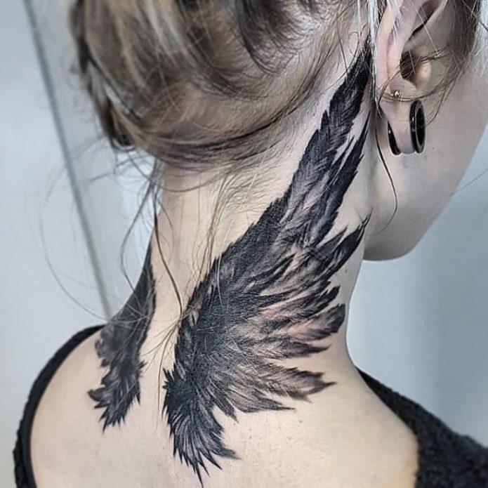 Крылья тату