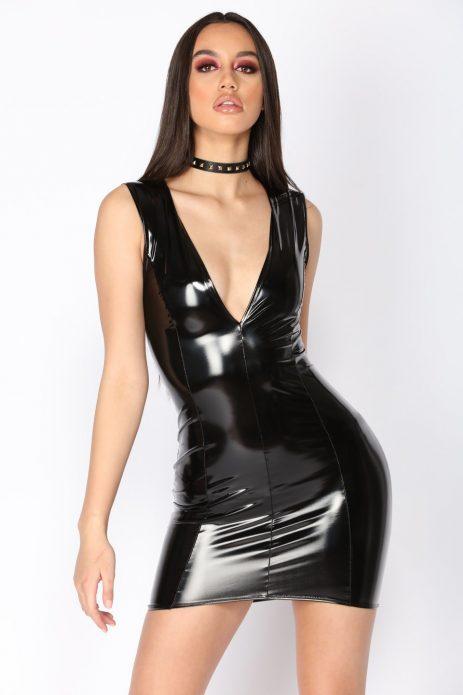 Платье из латекса