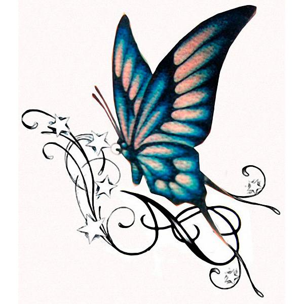 эскиз цветной для тату бабочка
