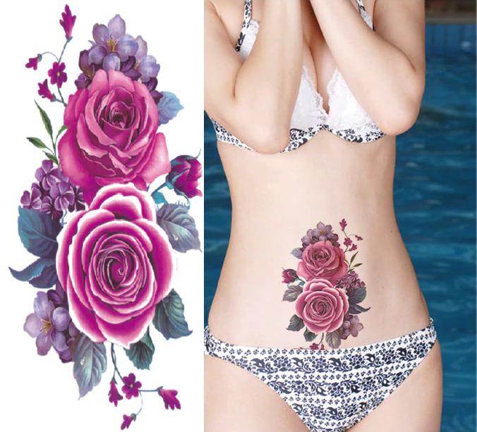 Фото и эскиз для татуировки на животе