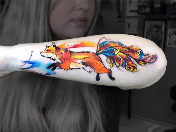 Разноцветная лиса