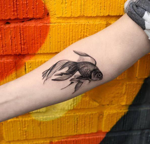 Рыбка чёрная