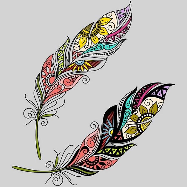 Эскиз «перья»