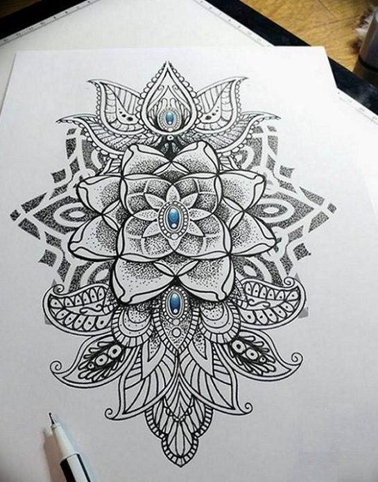 Эскиз тату в стиле дотворк