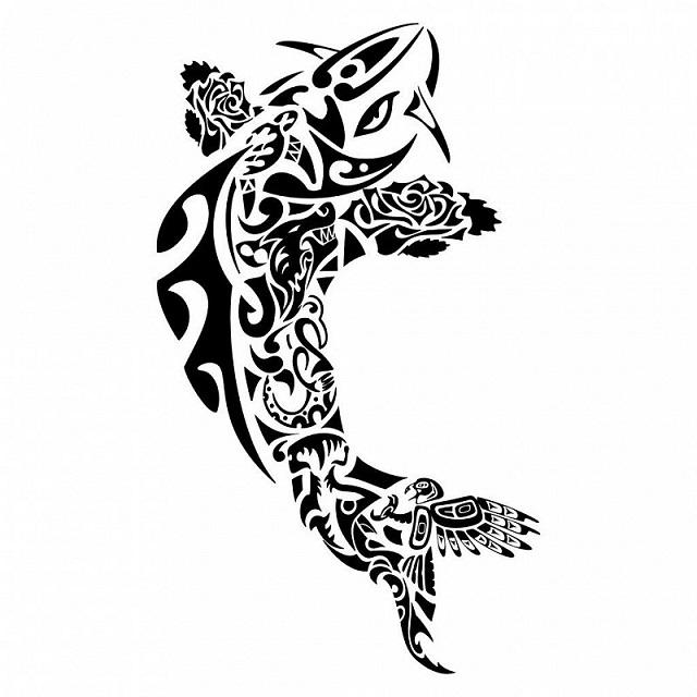 Эскиз в стиле полинезия