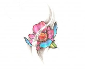 эскиз цветок для маленькой татуировки
