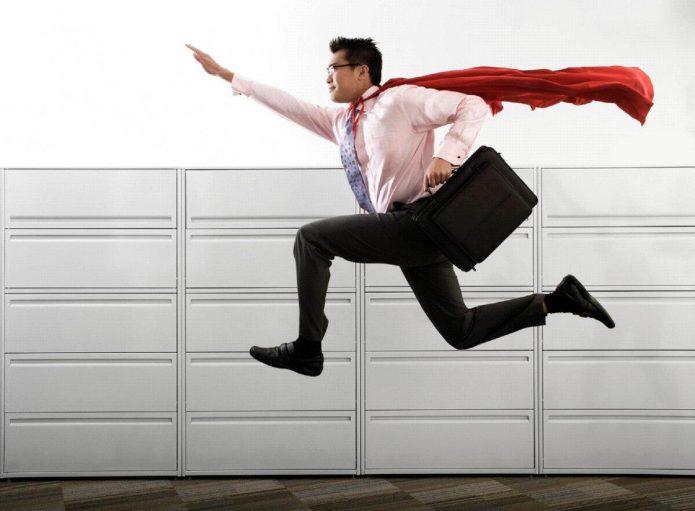 Супермен на работе