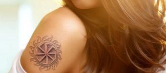 тату-обереги для девушек, ладинец славянский символ