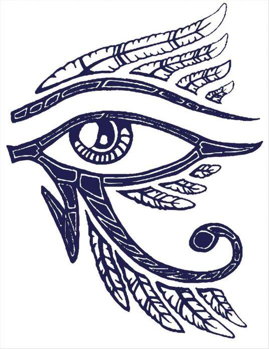эскиз глаз Ра
