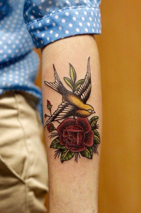 Ласточка и роза