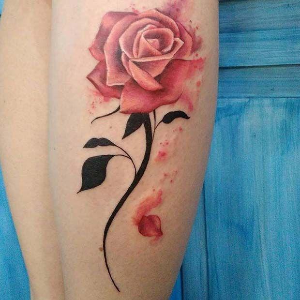Роза с опадающими лепестками