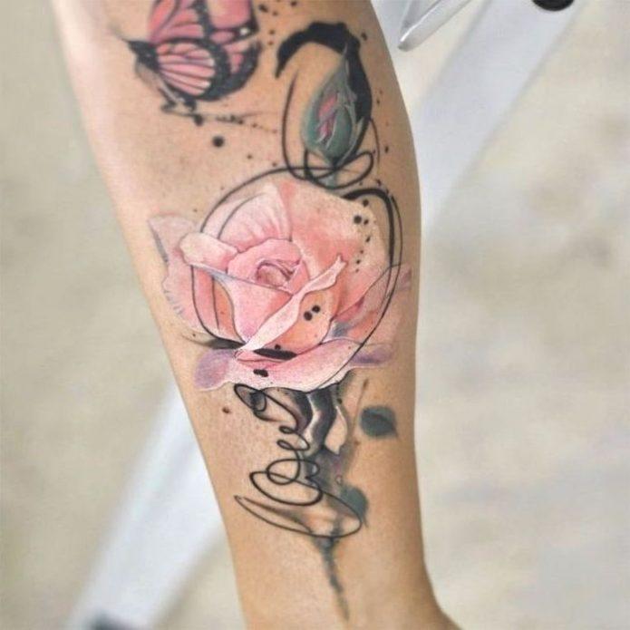 Розовы цветок