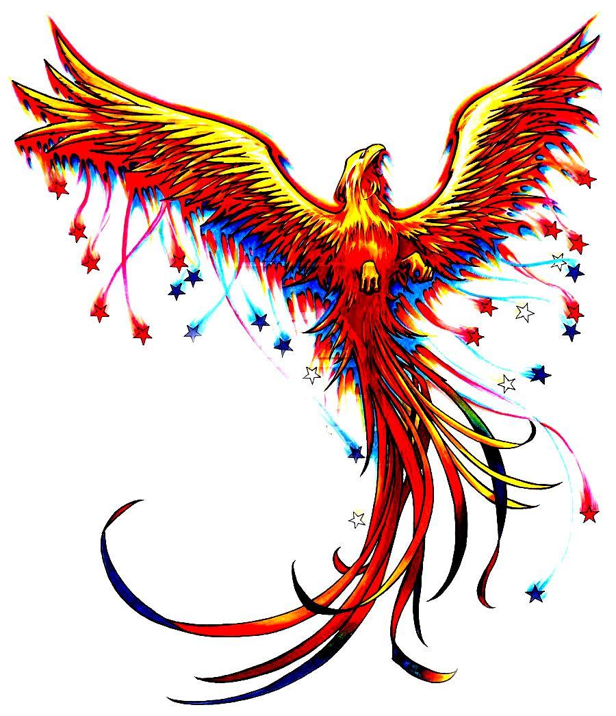 рисунки феникса для татуировок фильмов про американскую