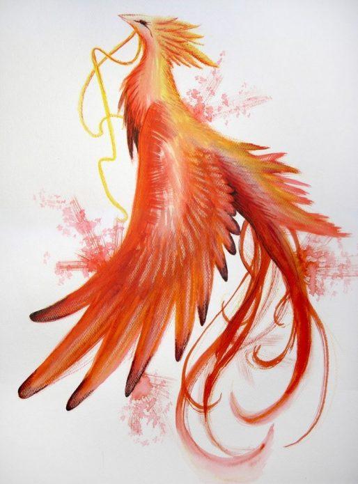 Летящий феникс