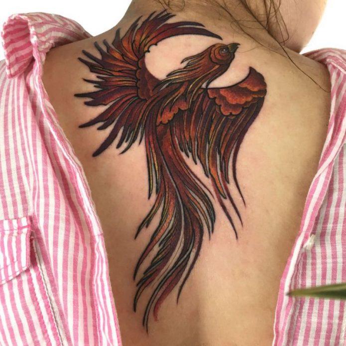 Феникс на спине