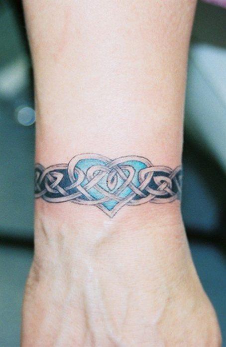 тату-браслет в виде кельтского узора, женские эскизы