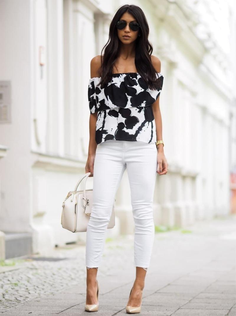 Как носить белые джинсы, чтобы выглядеть дорого: 5 стильных идей