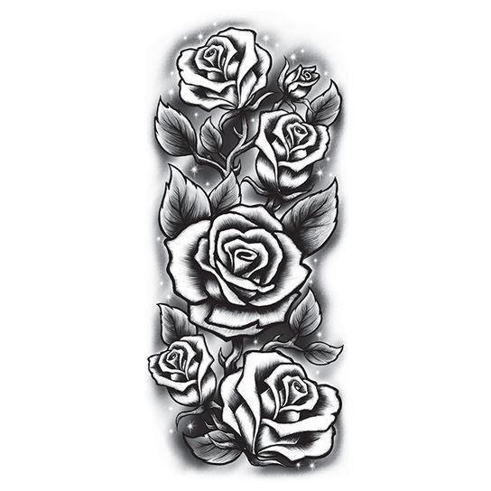 эскиз розы полурукав чб