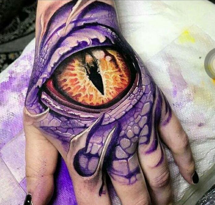 тату глаз дракон на всю кисть, крутые эскизы для кисти