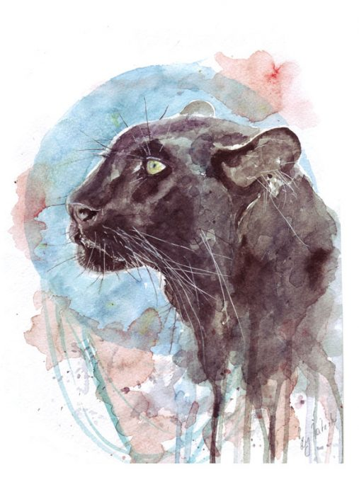 красивый арт эскиз тату пантера для девушек