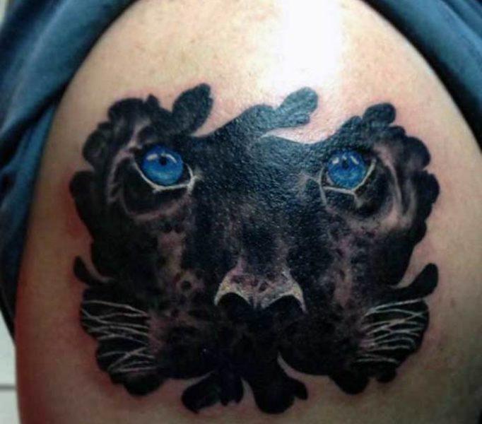 красивая тату пантера для девушек