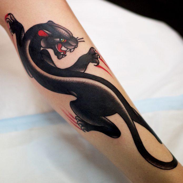 татуировка хищная пантера для женщин